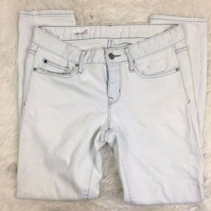 Gap White Acid Washed Always Skinny Jeans Pants